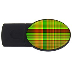 Multicoloured Background Pattern Usb Flash Drive Oval (2 Gb)
