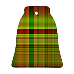 Multicoloured Background Pattern Bell Ornament (two Sides)