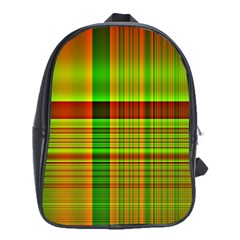 Multicoloured Background Pattern School Bags (XL)