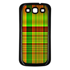 Multicoloured Background Pattern Samsung Galaxy S3 Back Case (Black)