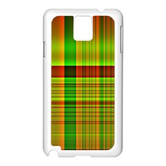 Multicoloured Background Pattern Samsung Galaxy Note 3 N9005 Case (White)