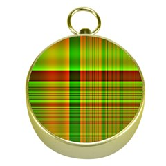Multicoloured Background Pattern Gold Compasses