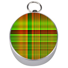 Multicoloured Background Pattern Silver Compasses