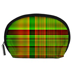 Multicoloured Background Pattern Accessory Pouches (large)
