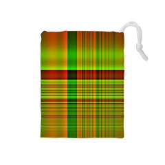 Multicoloured Background Pattern Drawstring Pouches (medium)