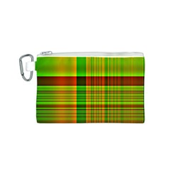 Multicoloured Background Pattern Canvas Cosmetic Bag (S)