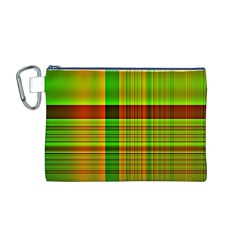 Multicoloured Background Pattern Canvas Cosmetic Bag (m)