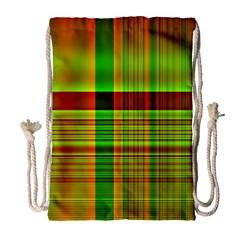 Multicoloured Background Pattern Drawstring Bag (large)