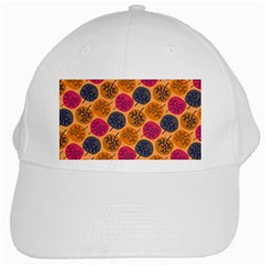 Colorful Trees Background Pattern White Cap