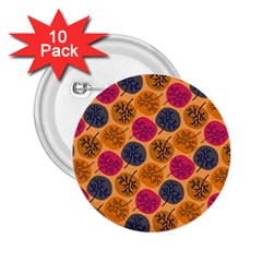Colorful Trees Background Pattern 2 25  Buttons (10 Pack)