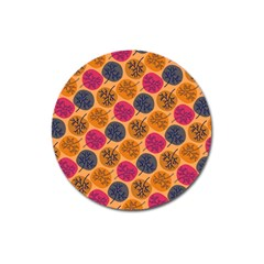 Colorful Trees Background Pattern Magnet 3  (Round)