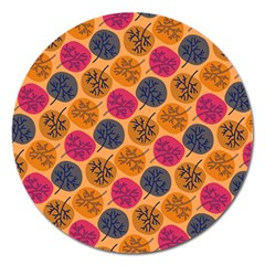 Colorful Trees Background Pattern Magnet 5  (Round)