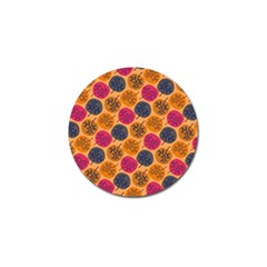 Colorful Trees Background Pattern Golf Ball Marker