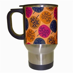 Colorful Trees Background Pattern Travel Mugs (white)
