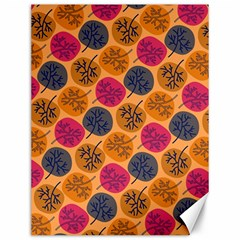 Colorful Trees Background Pattern Canvas 12  x 16