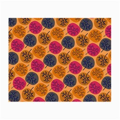 Colorful Trees Background Pattern Small Glasses Cloth (2 Side)