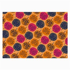 Colorful Trees Background Pattern Large Glasses Cloth (2 Side)