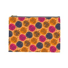 Colorful Trees Background Pattern Cosmetic Bag (Large)