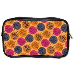 Colorful Trees Background Pattern Toiletries Bags