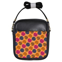 Colorful Trees Background Pattern Girls Sling Bags