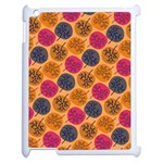 Colorful Trees Background Pattern Apple iPad 2 Case (White) Front