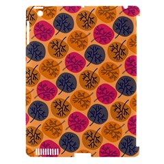 Colorful Trees Background Pattern Apple iPad 3/4 Hardshell Case (Compatible with Smart Cover)