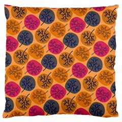 Colorful Trees Background Pattern Large Cushion Case (One Side)