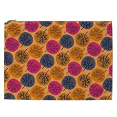 Colorful Trees Background Pattern Cosmetic Bag (XXL)