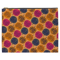 Colorful Trees Background Pattern Cosmetic Bag (XXXL)