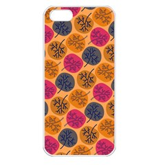Colorful Trees Background Pattern Apple Iphone 5 Seamless Case (white)