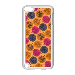 Colorful Trees Background Pattern Apple iPod Touch 5 Case (White)