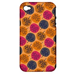 Colorful Trees Background Pattern Apple iPhone 4/4S Hardshell Case (PC+Silicone)