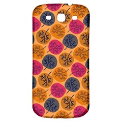 Colorful Trees Background Pattern Samsung Galaxy S3 S III Classic Hardshell Back Case