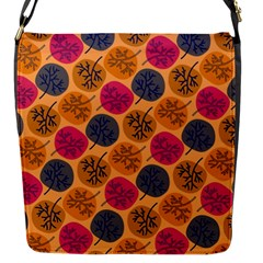 Colorful Trees Background Pattern Flap Messenger Bag (S)