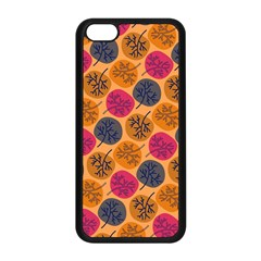 Colorful Trees Background Pattern Apple Iphone 5c Seamless Case (black)