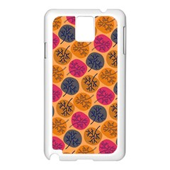 Colorful Trees Background Pattern Samsung Galaxy Note 3 N9005 Case (White)