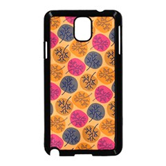 Colorful Trees Background Pattern Samsung Galaxy Note 3 Neo Hardshell Case (Black)