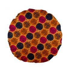 Colorful Trees Background Pattern Standard 15  Premium Flano Round Cushions