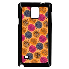 Colorful Trees Background Pattern Samsung Galaxy Note 4 Case (Black)