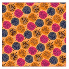 Colorful Trees Background Pattern Large Satin Scarf (Square)