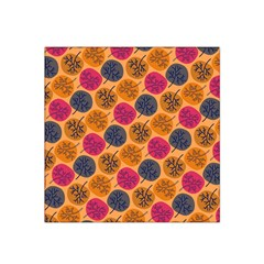 Colorful Trees Background Pattern Satin Bandana Scarf
