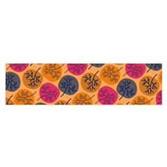 Colorful Trees Background Pattern Satin Scarf (Oblong)