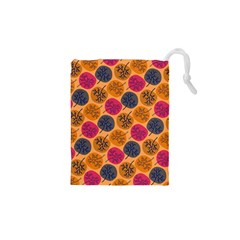 Colorful Trees Background Pattern Drawstring Pouches (xs)