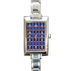 Abstract Lines Seamless Pattern Rectangle Italian Charm Watch