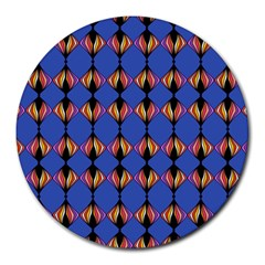 Abstract Lines Seamless Pattern Round Mousepads
