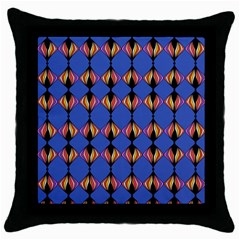 Abstract Lines Seamless Pattern Throw Pillow Case (Black)