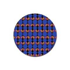 Abstract Lines Seamless Pattern Rubber Coaster (Round)