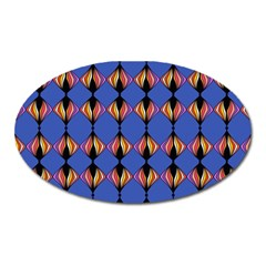 Abstract Lines Seamless Pattern Oval Magnet