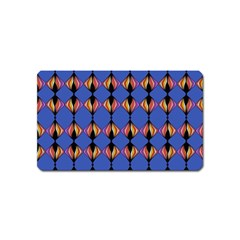 Abstract Lines Seamless Pattern Magnet (Name Card)
