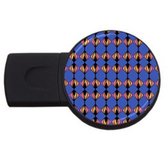 Abstract Lines Seamless Pattern USB Flash Drive Round (1 GB)